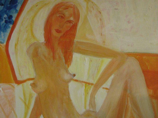 10. Mein Engel (2009), 60×50, Öl