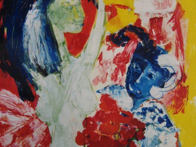 13. Narr und Tänzerin (1976), 80×100, Acryl