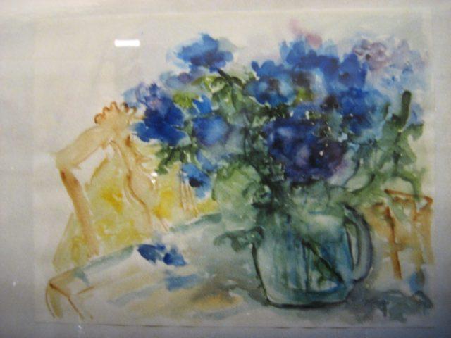 14. Anemonen (blau-Aquarell) (1980), 50×64, Aquarell