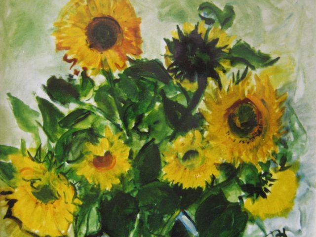 17. Sonnenblumen (1993), 55×40, Öl/Acryl