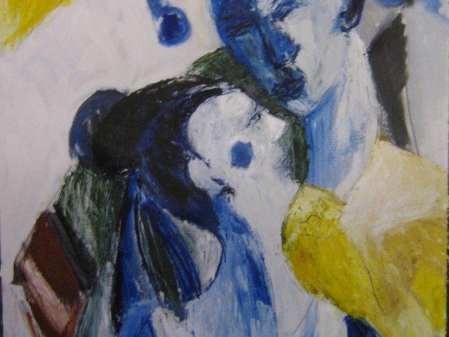 22. Narr und Tänzerin (1999), 50×70, Öl