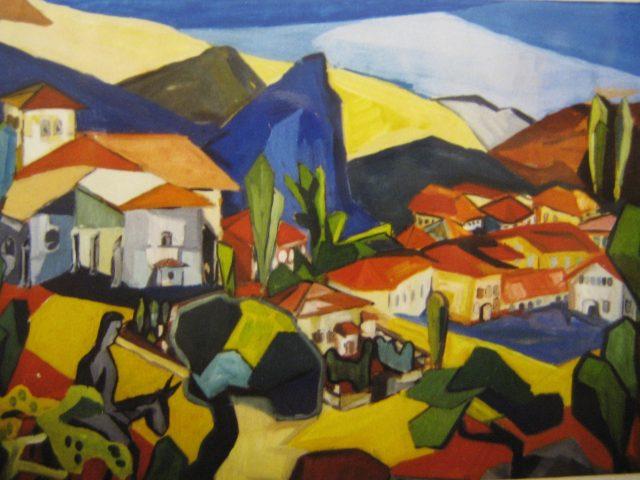 84. Cervera (Pyrenäen) (1958), 68×46, Deckfarben