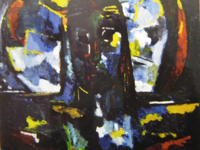 24. Christus (1959), 38×36, Öl-Hinterglas