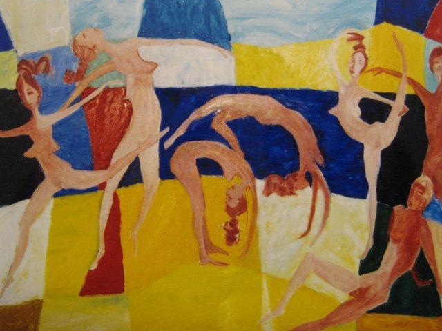 26. Let's dance (Strandspiele) (1999), 80×120, Öl