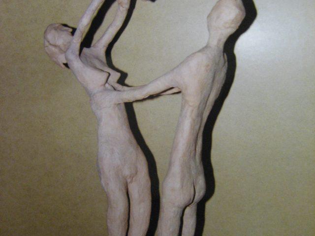 32. Familie (1980), 87x20x10, Ton (ungebrannt)
