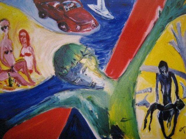 36. Geteilte Welt (1999), 60×80, Öl