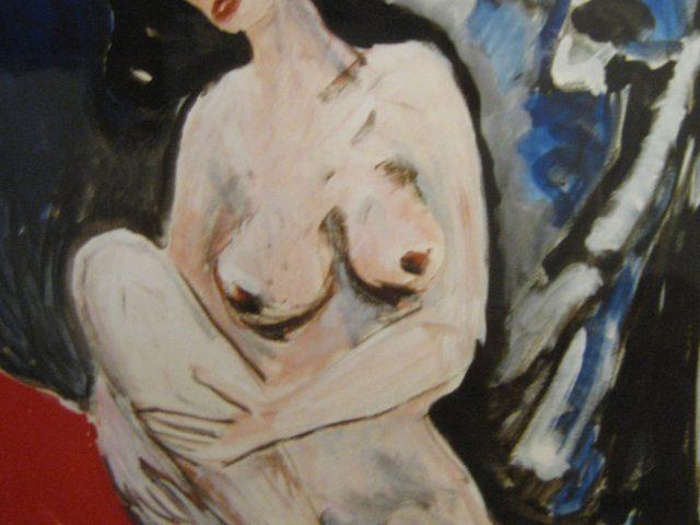 37. Weiblicher Akt (1999), 50×70, Acryl