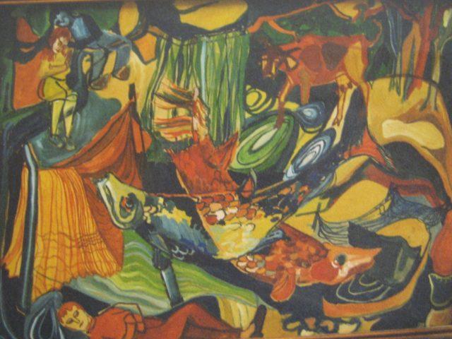 49. Unter dem Milchwald (1961), 20×30, Deckfarben