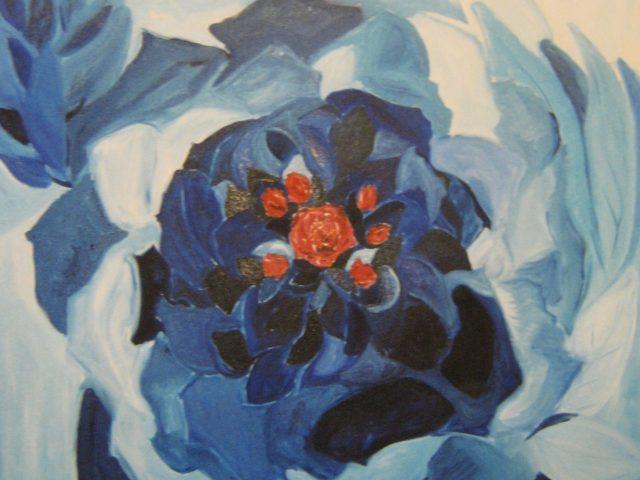 55. Erinnerung an eine Rose (2004), 80×80, Öl