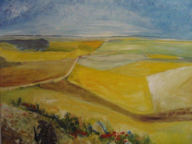 60. Auf dem Jakobsweg (2005), 100×100, Öl