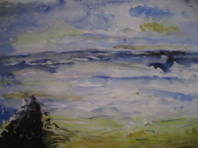63. Stürmische See in St. Maartenszee (2008), 50×64, Aquarell