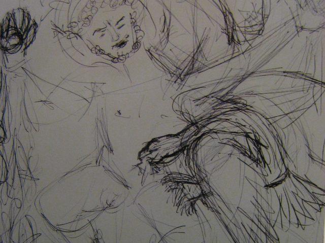 64. Prometheus – Entwurf (2008), 80×100, Grafit