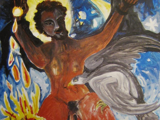65. Prometheus (2008), 80×100, Acryl