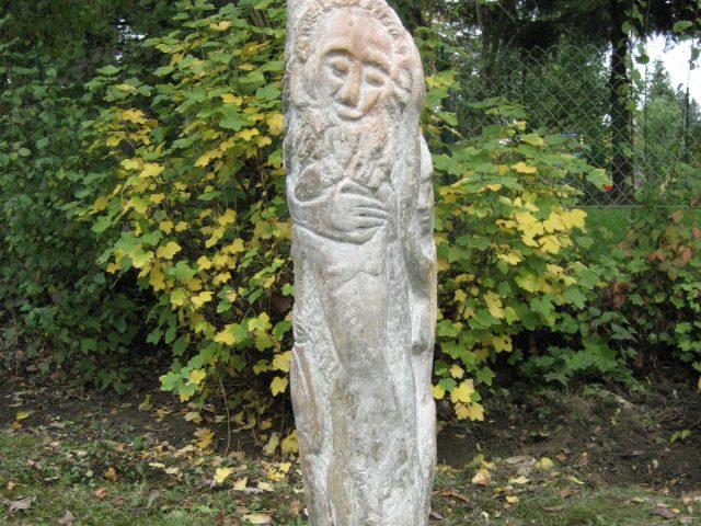 74. Priapos-Stele (2009), Höhe 1,5 m, Serpentin