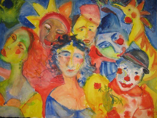 80. Karnevalsgruppe (2009), 76×57, Aquarell