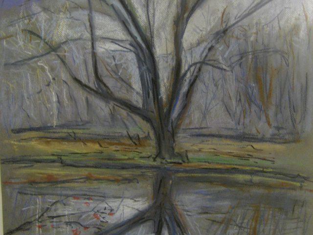 82. Weide an der Ruhr (2008), 50×65, Pastell